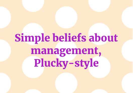 Plucky Management Beliefs
